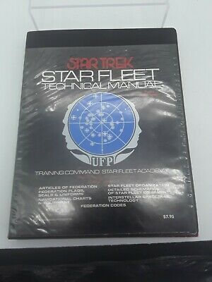 Vintage 1975 Star Trek Star Fleet Technical Manual TM:379260 Star Fleet Academy