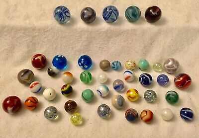 Collection Job Lot Of Vintage Interesting Unusual Glass Marbles