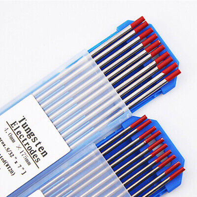 WT20 Tungsten Electrodes Welding TIG Rod 10pcs/Set Zirconiated Thoriated