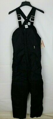 Walls Blizzard Pruf Men's Black Insulated Bibs Snow Cold Outdoor Pants Size M