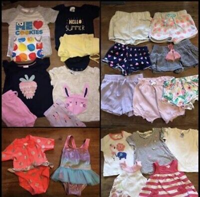 Baby Girl Summer Clothes Bundle - 22 Pieces in Size 000