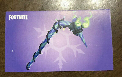 Merry Minty Mint Pick Axe Code Unused Fortnite Pickaxe Card IN HAND Emailed Code