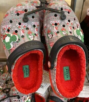 2019 Disney Parks Christmas Light Up Holiday Sherpa Clogs New w/tags W11