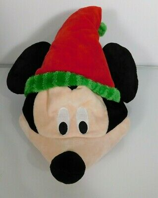 Disney Parks MICKEY MOUSE SANTA Christmas Plush Hat Ears, Sings, Moves!