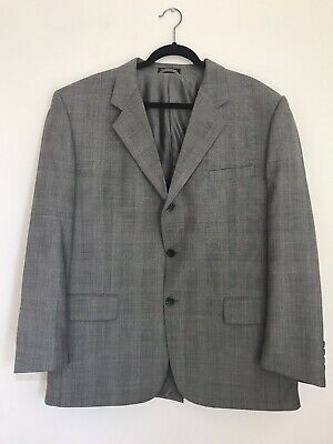 Stafford Gray Suit 39R 100% Worksted Wool Single Breasted USED