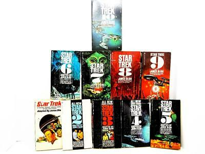 Star Trek Books Series Collection by James Blish Books 1 through 10 Paperback A1