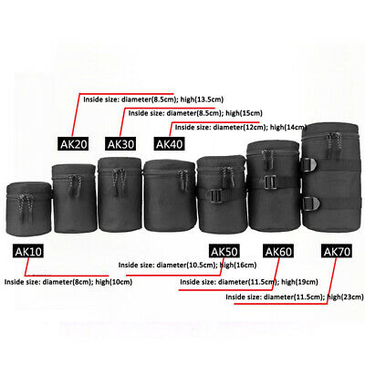 Thick Protective Waterproof For DSLR Camera Lens Pouch Bag Travel Case Cover UK
