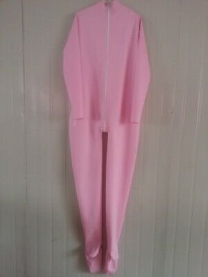 100% Latex Rubber Pink Full Body Catsuit Tailored Tigth Zipper 0.4mm Size S~XXL