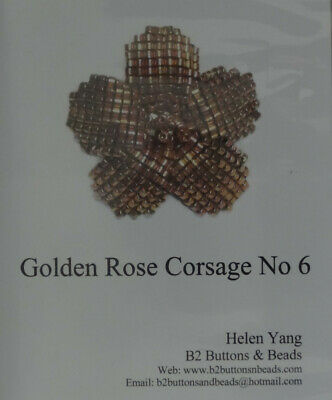 Bead Kit -  Golden Rose Corsage. New using Delica Beads & quality fittings
