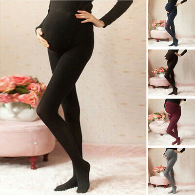 Women's Thick Comfortable Maternity Cotton Leggings Full Ankle PREGNANCY Wear
