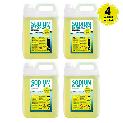 Sodium Hypochlorite 14-15% Patio Cleaner / Swimming Pool Chlorine 20 Litre