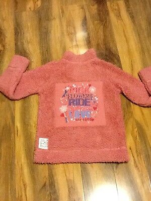 Fat Face Girls Fluffy Sweater Aged 10-11 Years Old