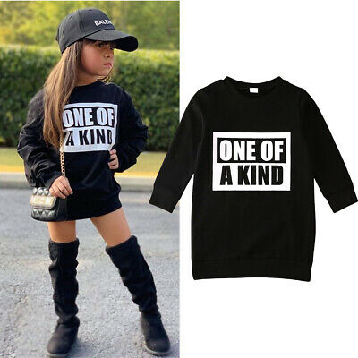 Kids Toddler Baby Girls Clothes Cotton Tops T-Shirts Dress Skirt Winter Outfits