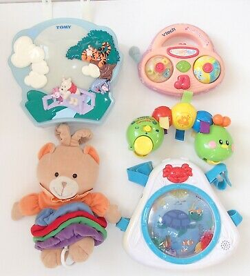 Tomy Musical Cot Pooh Light Projector Baby Einstein Vtech Caterpillar Baby Toys