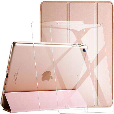 """For Apple iPad 10.2"""" 7th Generation Smart Stand Case Cover + Free Tempered Glass"""