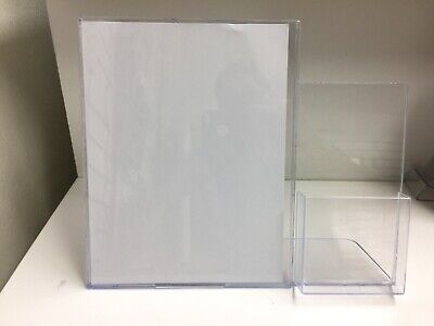 5 Piec 8 1/2x11 Clear Acrylic Plastic Table Card Menu Paper Holder Display Stand