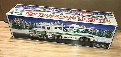 Hess 1995 Toy Truck And Helicopter New In Box