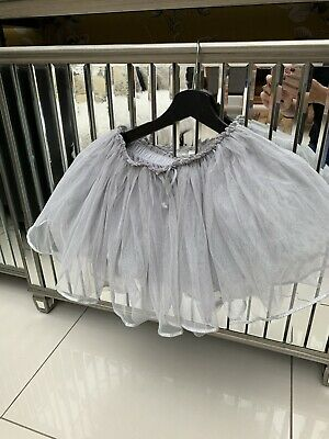 Gorgeous Girls Grey/Silver Next Tulle Party Skirt