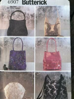 Butterick Sewing Pattern 6907 6 Handbags Pretty Designs for Evening