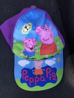 Peppa Pig Purple Childs Adjustable Cap One Size Approximately 4 To 6 Years