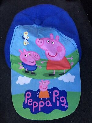 Peppa Pig Blue Childs Adjustable Cap One Size Approximately 4 To 6 Years