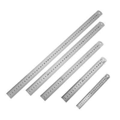 Stainless Steel Metal Straight Ruler Precision Double Sided Measuring Tool *DC