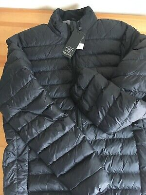Padded puffer jacket, mens, small, black, winter coat, Peacocks, new with tags