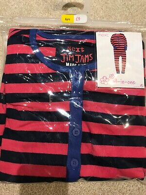 Brand New With Tags Girls Striped All In One From Next Age 6 Years