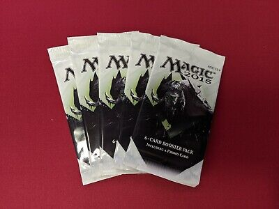 MTG Magic the Gathering M15 2015 DOTP Promo Booster Pack Lot - 5x - New Sealed