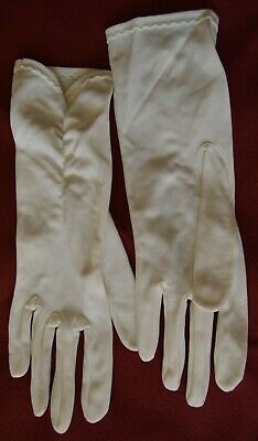 PAIR OF VINTAGE WHITE LADIES EVENING GLOVES 26cm LONG