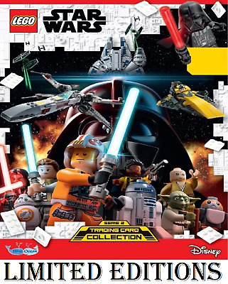 LEGO STAR WARS SERIES 2 LIMITED EDITION TRADING CARDS Buy 3 Get 1 Free!!