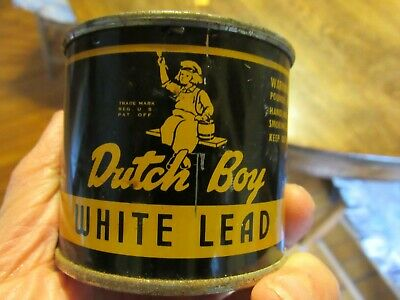 Vintage Dutch Boy White Lead 1 lb Can,  FULL   Collectible  Advertising