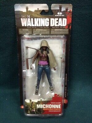 The Walking Dead Michonne Action Figure Series 3 Twd Mcfarlane 2013 Nip Poncho