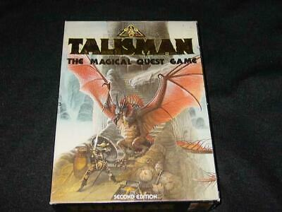 Games Workshop 1985 D&D : TALISMAN 2nd Edt - The Magical Quest Game + Poster