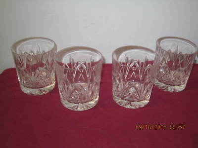"Waterford Crystal, Marquis  ""Brookside""  Double Old Fashioned Drink Glasses  (4)"