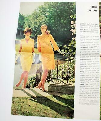 Vtg McCall's Needlework & Crafts Magazine Pages Spring-Summer 1967 Crochet Knit
