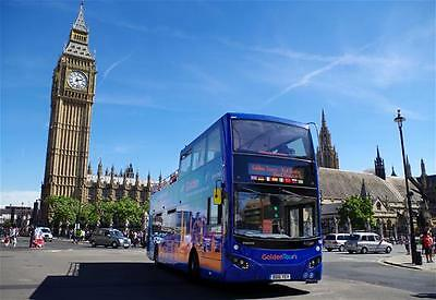 1 DAY FAMILY TICKET LONDON OPEN TOP GOLDEN TOURS HOP ON hop OFF + BOAT + WALK