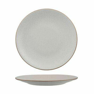 6x Coupe Plate 260mm Zuma Mineral White Tapas Lunch Commercial Crockery Cafe