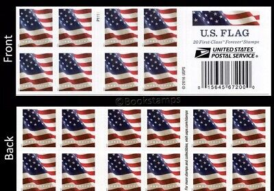 USPS US Flag 2017 Forever Stamps - 40 Pieces 2 Books