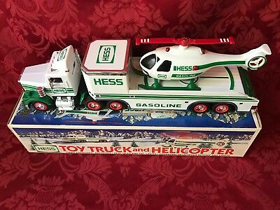 "1995 Hess ""Toy Truck And Helicopter"" ""Tested And Working Helicopter--Nib--Mint"