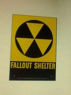 "Fallout Shelter Sign - 10""x 14"" Type 2"
