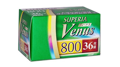 2 x FUJI SUPERIA VENUS 800 COLOR NEG--35mm/36 exps--expiry: 02/2021--LAST BATCH!