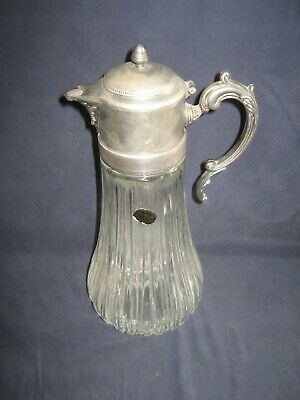 Godinger Fine Crystal & Silverplate Carafe Italy