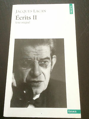 """""""Ecrits II"""" Jacques Lacan (Paperback, 1999 French) *VGC*"""