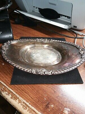 EPCA Bristol Silver 25 Silver-Plated Oval Butter Dish Bowl Platter Beautiful