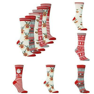 New Mens Women Adult Novelty Christmas Socks Ladies Gift Xmas Assorted Sale Y3O0