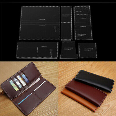 Acrylic Template for business long wallet Leather craft Pattern sten JvTSAUT cw