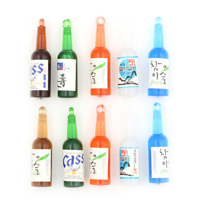5XMiniature Wine Drink Bottle Beer Cups DollHouse Decoration Pretend PlayGift cw