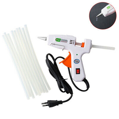 20W Hot Melt Glue Gun with 10x 7mm Glue Stick Fit Repair DIY Electric Heat T cw