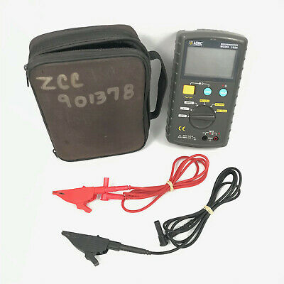 AEMC Digital Megohmmeter Model 1026 w/ Test Leads & Case